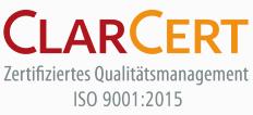 Die Gelenk-Klinik Gundelfingen ist nach ISO 9001:2015 zertifiziert